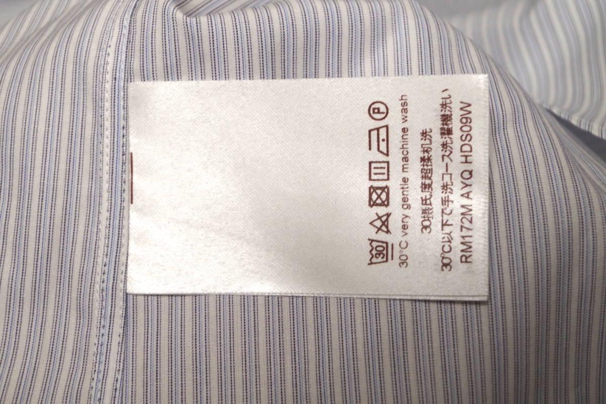 17SS LOUIS VUITTON ルイヴィトン ストライプ シャツ LOUIS VUITTON FOREVER 刺繍 ブルー ホワイト XL サークルロゴ LV チャップマン_画像9