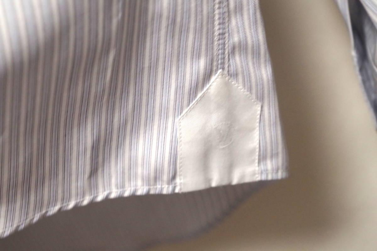 17SS LOUIS VUITTON ルイヴィトン ストライプ シャツ LOUIS VUITTON FOREVER 刺繍 ブルー ホワイト XL サークルロゴ LV チャップマン_画像8