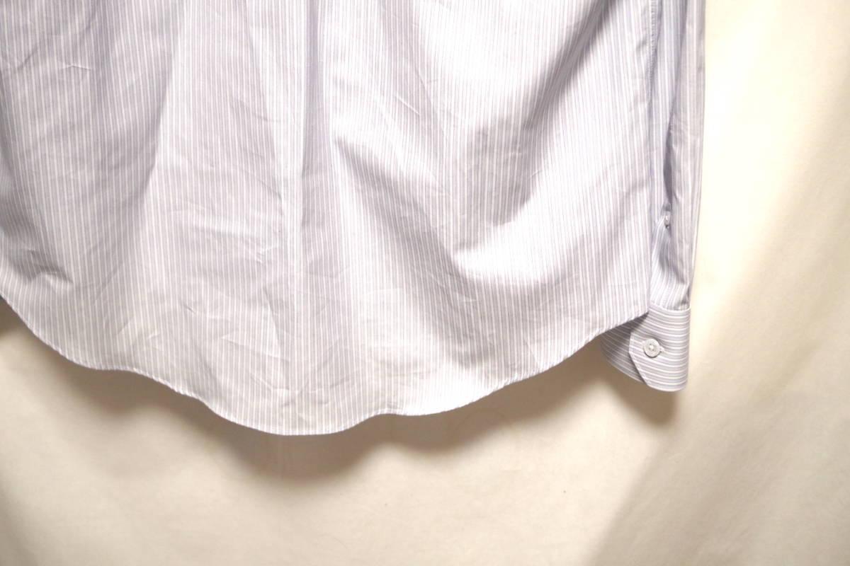 17SS LOUIS VUITTON ルイヴィトン ストライプ シャツ LOUIS VUITTON FOREVER 刺繍 ブルー ホワイト XL サークルロゴ LV チャップマン_画像7