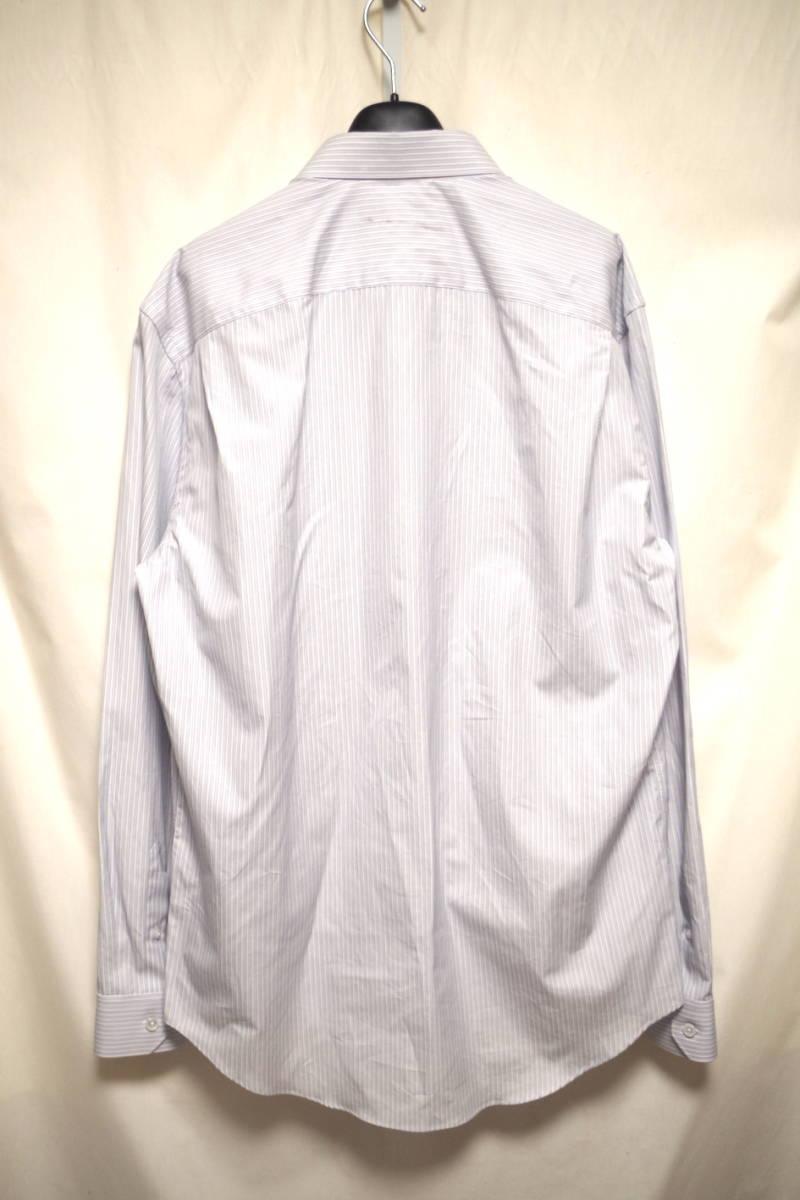 17SS LOUIS VUITTON ルイヴィトン ストライプ シャツ LOUIS VUITTON FOREVER 刺繍 ブルー ホワイト XL サークルロゴ LV チャップマン_画像2