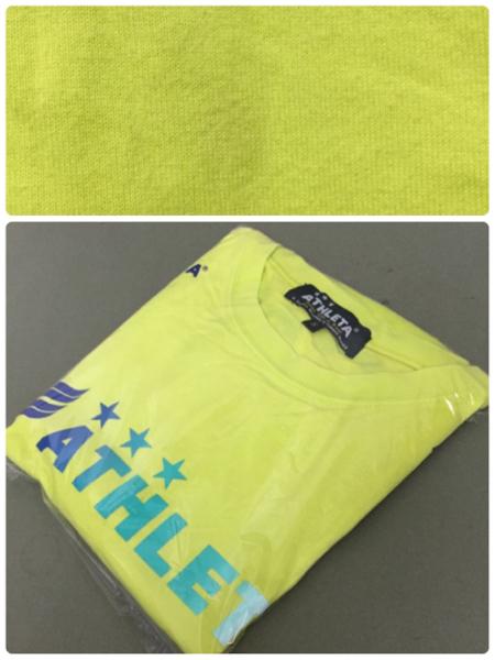 ♪ アスレタ ATHLETA Tシャツ 半袖 Sサイズ フットサル イエロー_画像3