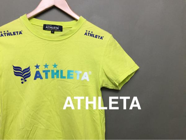 ♪ アスレタ ATHLETA Tシャツ 半袖 Sサイズ フットサル イエロー
