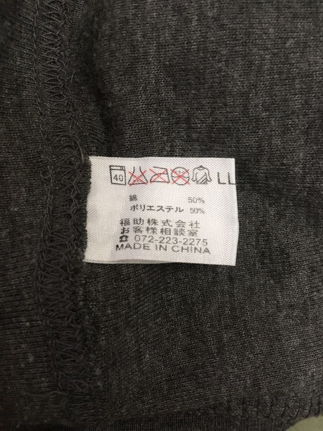 &4-11 フィラ FILA 半袖Tシャツ メンズ LLサイズ 大きめ ビッグロゴ グレー スポーツ系_画像4