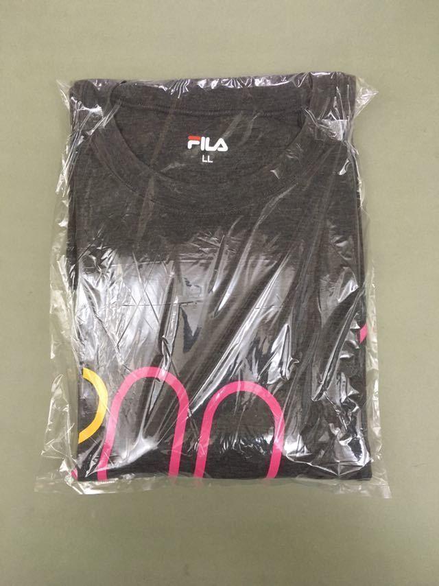 &4-11 フィラ FILA 半袖Tシャツ メンズ LLサイズ 大きめ ビッグロゴ グレー スポーツ系_画像6