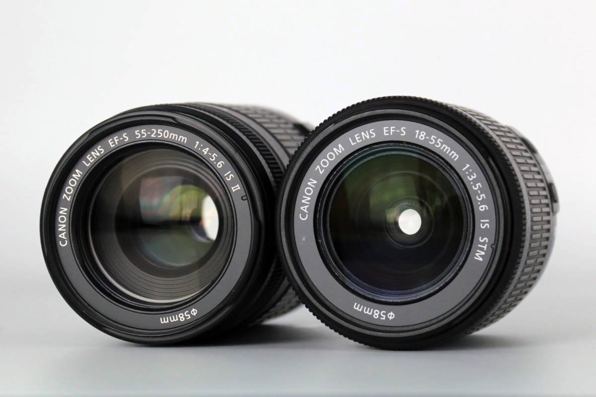 【S数2100回の美品★大手量販店長期保証残有】Canon EOS Kiss X7 ダブルズームキット EF-S18-55mm IS STM & 55-250mm IS Ⅱ レンズポーチ付_画像9