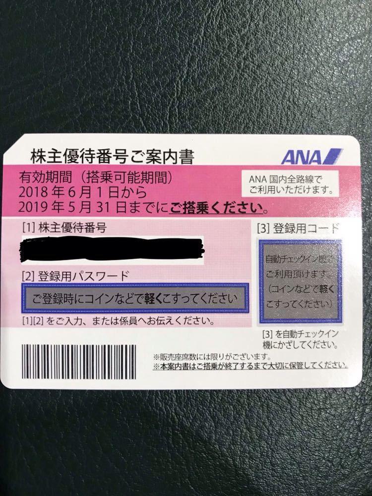 【送料無料】ANA株主優待券 4枚 2019年5月31日まで (送料無料)_画像2