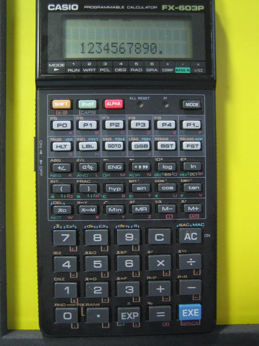 カシオ CASIO  FX-603P  中古 電池交換済み ジャンク扱い品 返品不可_画像2