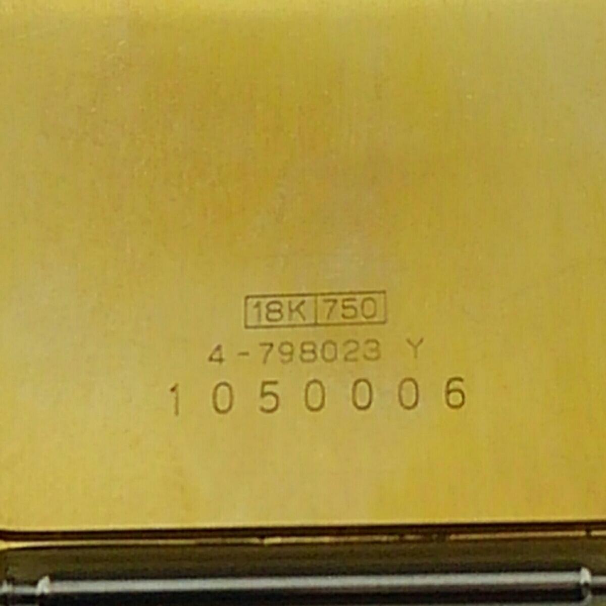 CITIZEN シチズン エクシード K18 750 K18尾錠付 メンズ クオーツ  _画像4