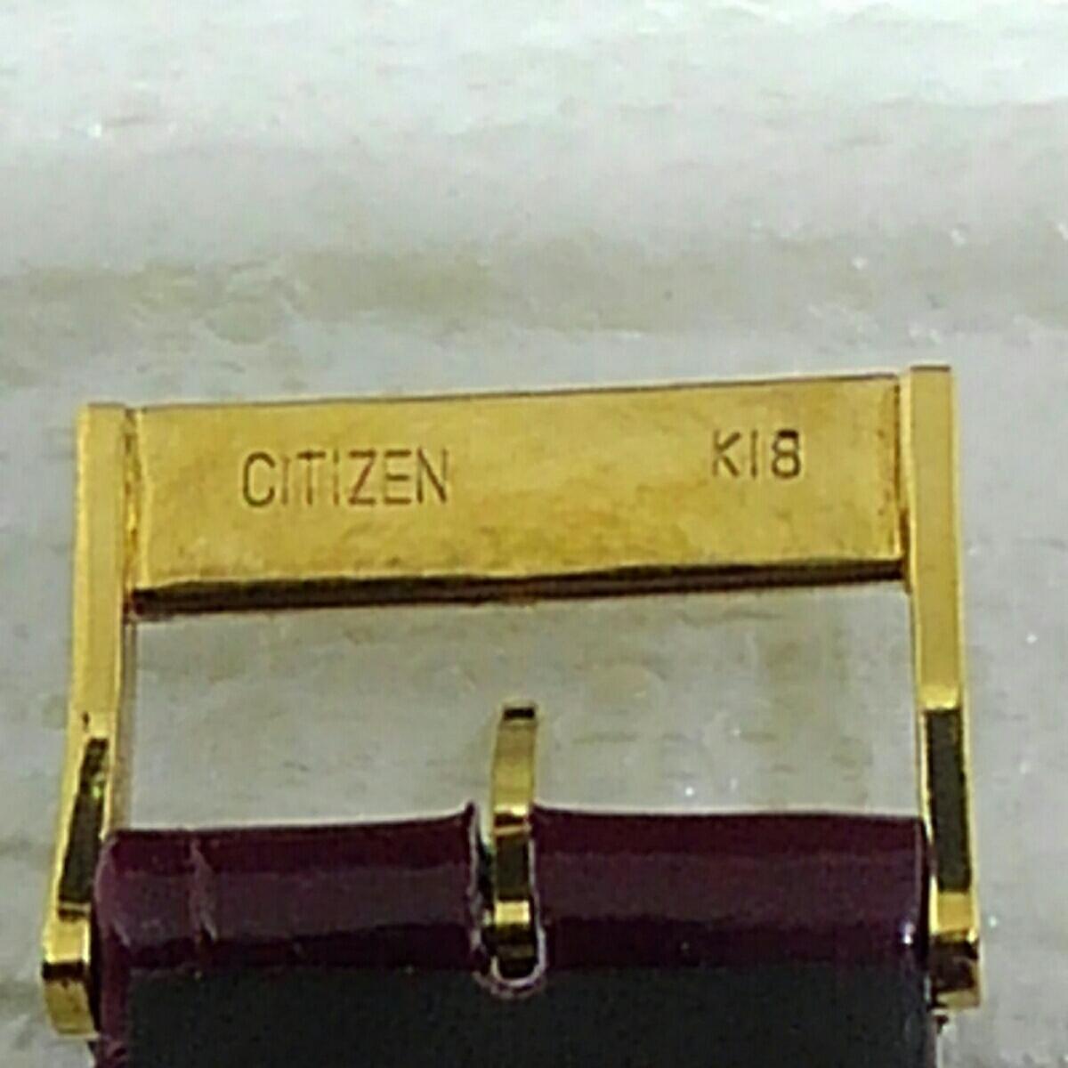 CITIZEN シチズン エクシード K18 750 K18尾錠付 メンズ クオーツ  _画像5