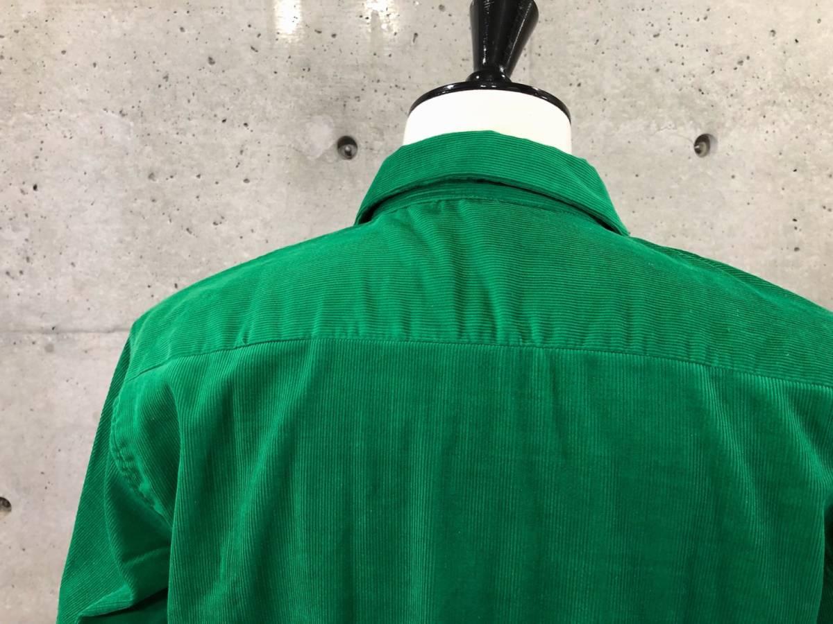 希少 《 Dead Stock / 1950年代製 》50s デッド 【 Brooks Lane ビンテージ 緑 グリーン コーデュロイ シャツ M アメリカ製 開襟 】_画像6