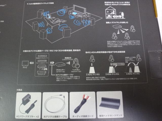 [中古・送料無料] SONY ソニー MDR-DS7100 7.1chデジタルサラウンドヘッドホンシステム_画像9