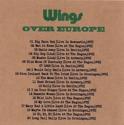 ★ WINGS OVER EUROPE 1971 - 1973 紙ジャケ 2CD ★ ボーナス DCC WILD LIFE入_画像3