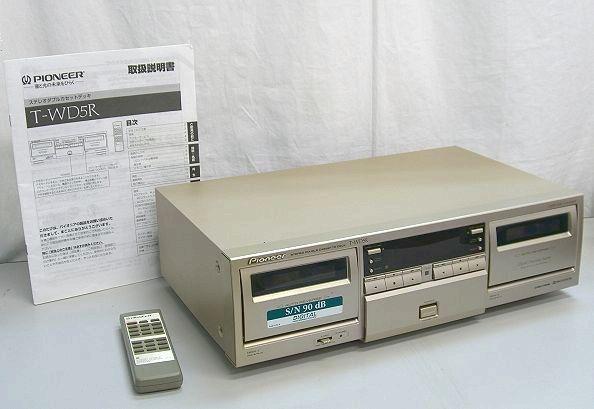 【さき171】Pioneer パイオニア ステレオダブルカセットデッキ T-WD5R リモコン 説明書 オーディオ ステレオ 機器 ツイン ダビング 録音