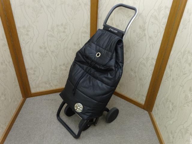 美品 ロルサー ROLSER  折りたたみ式 4輪 キャリー ショッピング カート コンパクト バッグ ブラック 黒 スペイン製 大容量