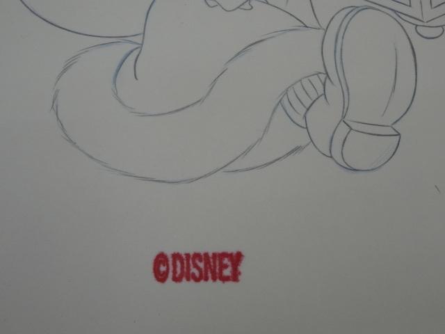 ディズニー Disney 「 ミッキーサンタ 」 鉛筆画 肉筆 デザイン画 額装_画像7