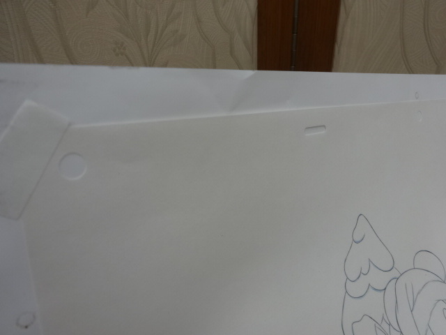 ディズニー Disney 「 ミッキーサンタ 」 鉛筆画 肉筆 デザイン画 額装_画像9
