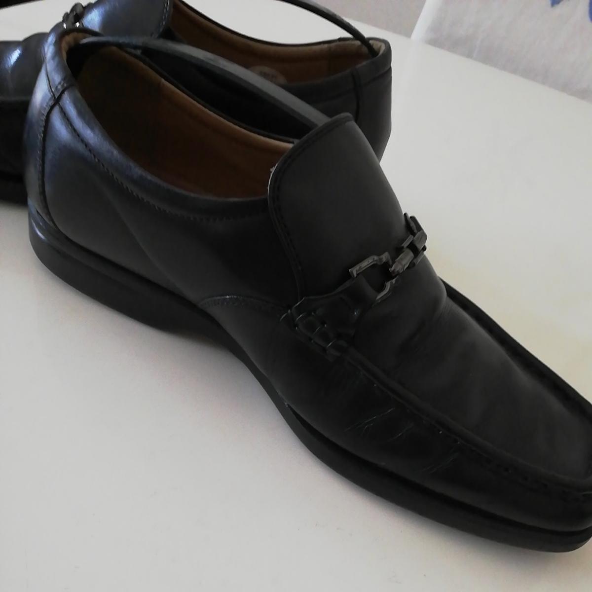 ★BURBERRY LONDON★26cm レザービットローファー バーバリーロンドン メンズ 黒 本革 ビジネスシューズ 本皮 スリッポン 革靴 定番_画像9
