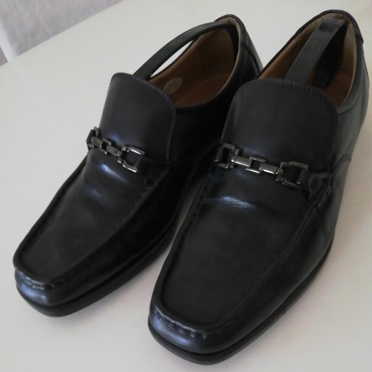 ★BURBERRY LONDON★26cm レザービットローファー バーバリーロンドン メンズ 黒 本革 ビジネスシューズ 本皮 スリッポン 革靴 定番_画像1