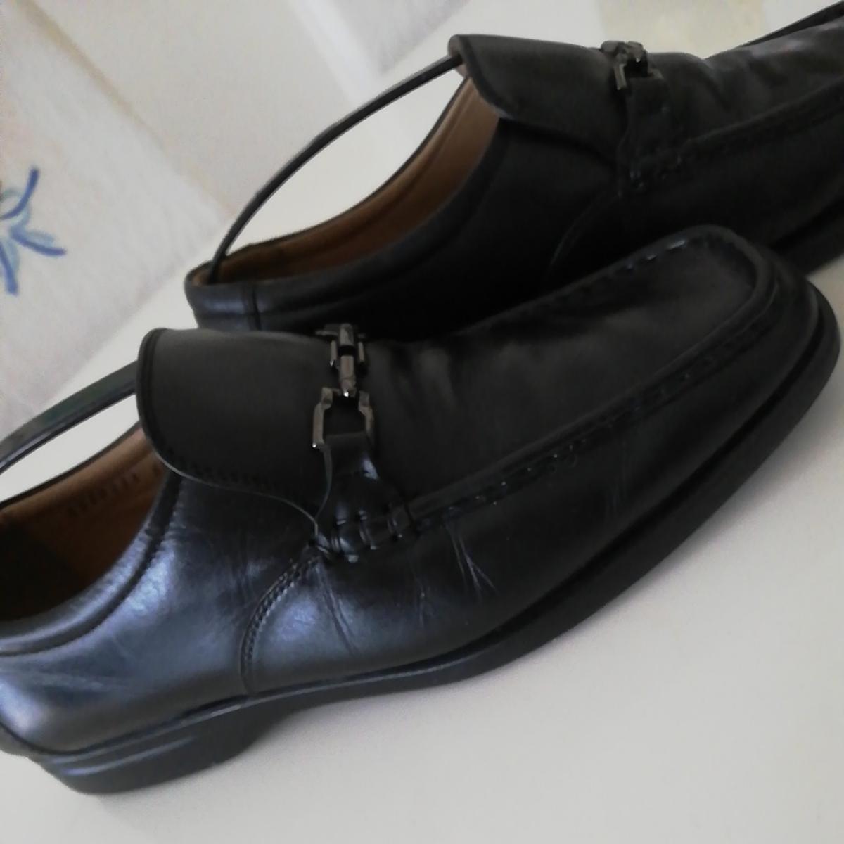 ★BURBERRY LONDON★26cm レザービットローファー バーバリーロンドン メンズ 黒 本革 ビジネスシューズ 本皮 スリッポン 革靴 定番_画像8