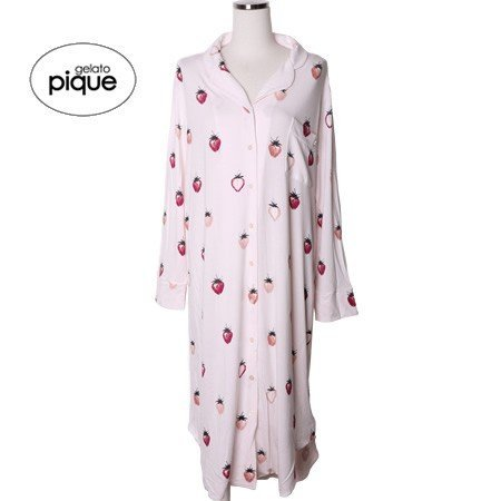 新品 ジェラートピケ×PEANUTS ストロベリー ドレス ワンピース ピンク