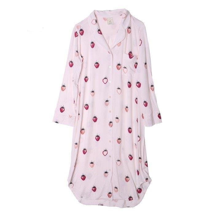 新品 ジェラートピケ×PEANUTS ストロベリー ドレス ワンピース ピンク _画像2
