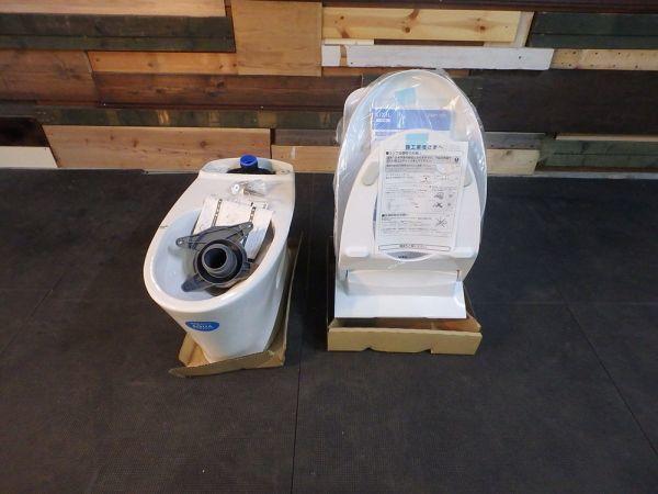 MH190503-1 長期保管 リクシル ベーシア シャワートイレ セット フランジ リモコン付き Wレット:DT-BA283G-6L 便器:YBC-BA20S_画像2