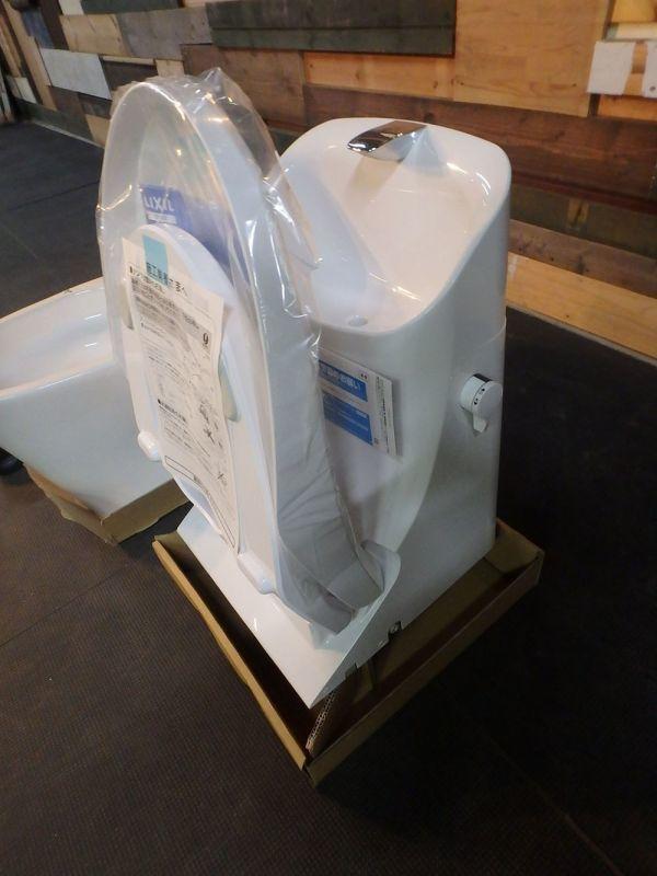 MH190503-1 長期保管 リクシル ベーシア シャワートイレ セット フランジ リモコン付き Wレット:DT-BA283G-6L 便器:YBC-BA20S_画像5