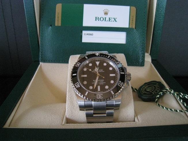「ロレックス サブマリーナ 114060 (ROLEX SUBMARINER)」の画像