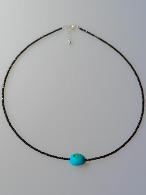 天然トルコ石 自然色 ブラックスピネル SV ネックレス