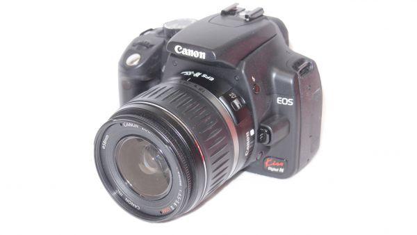 キヤノン/Canon EOS Kiss デジタル N レンズキット ブラック KISSDNB-LKIT 難あり_画像2