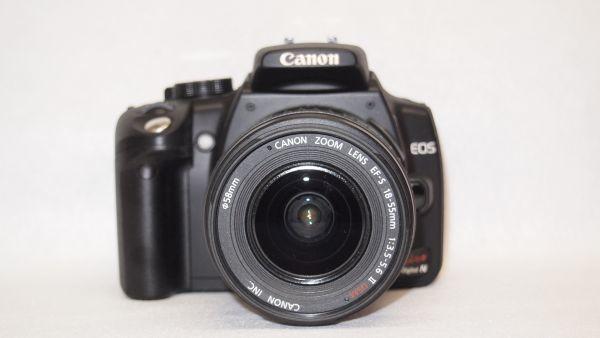 キヤノン/Canon EOS Kiss デジタル N レンズキット ブラック KISSDNB-LKIT 難あり_画像3