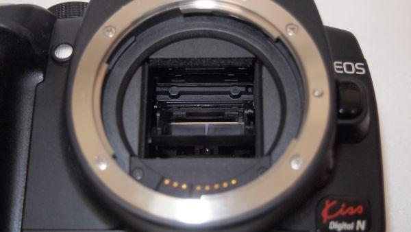 キヤノン/Canon EOS Kiss デジタル N レンズキット ブラック KISSDNB-LKIT 難あり_画像10