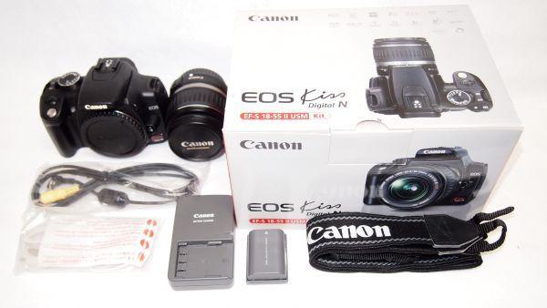 キヤノン/Canon EOS Kiss デジタル N レンズキット ブラック KISSDNB-LKIT 難あり