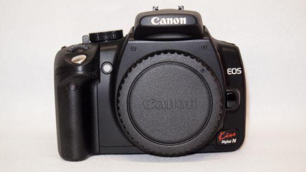 キヤノン/Canon EOS Kiss デジタル N レンズキット ブラック KISSDNB-LKIT 難あり_画像4