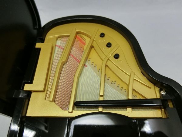 自動演奏グランドピアノ ミニチュア 6曲入り サンタルチア メヌエット等 未使用/AY0403-1854_画像4