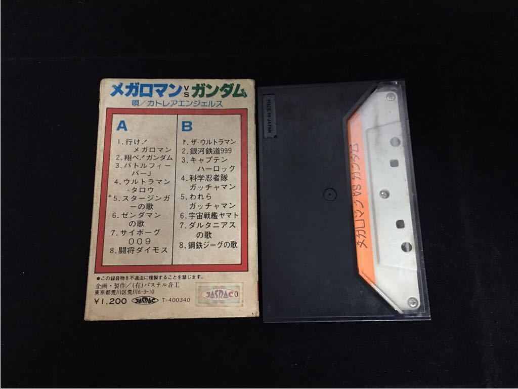 希少 パチソン カセットテープ メガロマンvsガンダム_画像2