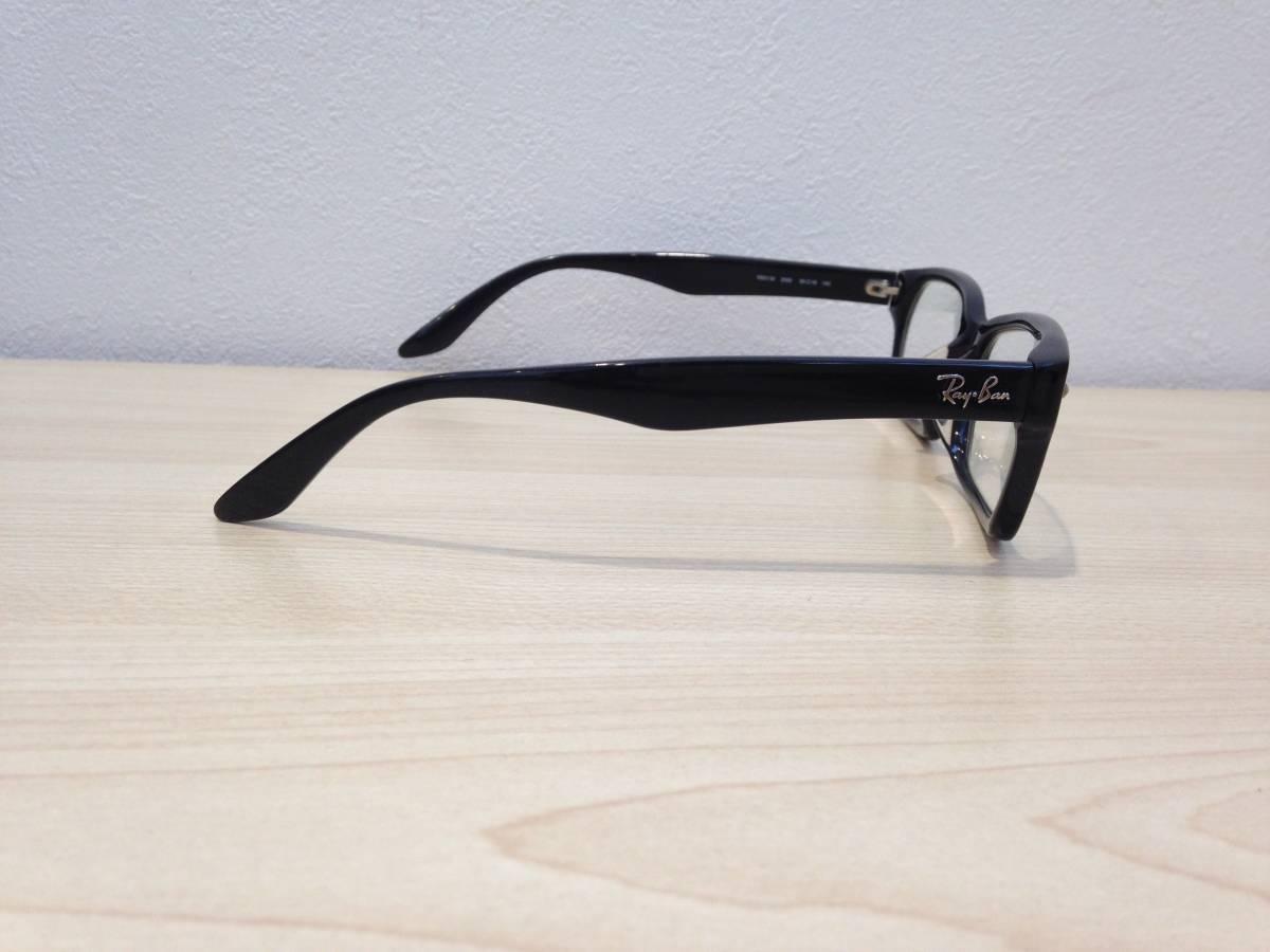 《1713》RayBan(レイバン) 眼鏡 メガネ フレーム RB5130-2000-55 ブラック ドラゴンアッシュモデル KJ ASIAN FIT_画像3