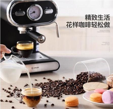 ★送料無料/注目★高性能 コーヒーメーカー 5杯 コーヒーマシーン エスプレッソ 全自動 安全 温度計 同時2杯 ステンレス ポンププレス_画像2
