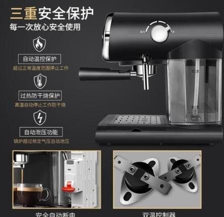 ★送料無料/注目★高性能 コーヒーメーカー 5杯 コーヒーマシーン エスプレッソ 全自動 安全 温度計 同時2杯 ステンレス ポンププレス_画像5