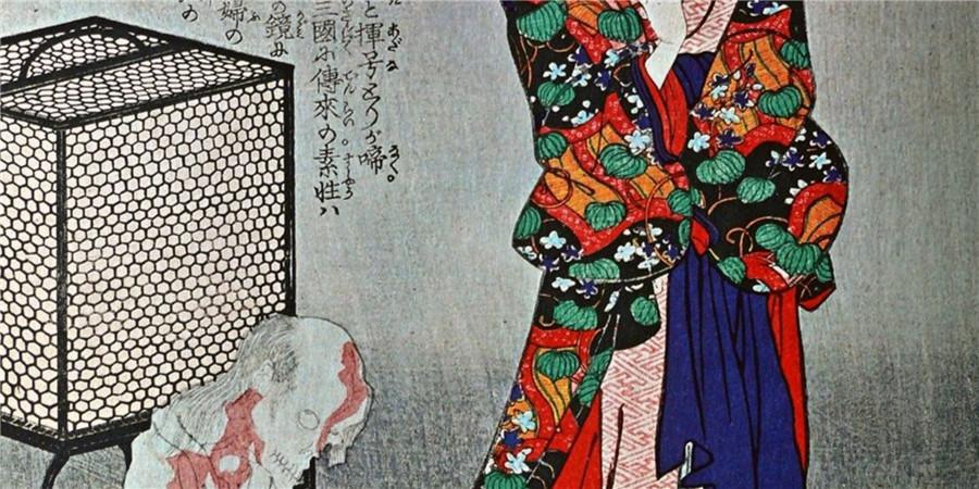 浮世絵 英名二十八衆句 月岡芳年 伝説 掛軸_画像3