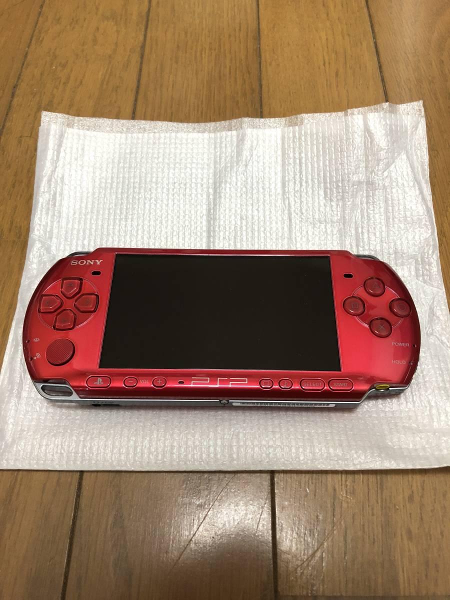 ★新品同様 完品★ PSP-3000 ラディアントレッド (PSP-3000RR) 動作確認済み _画像3