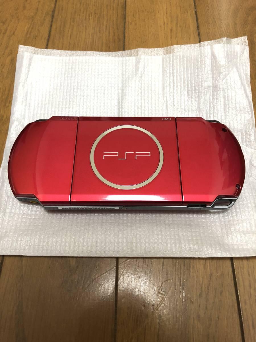 ★新品同様 完品★ PSP-3000 ラディアントレッド (PSP-3000RR) 動作確認済み _画像4