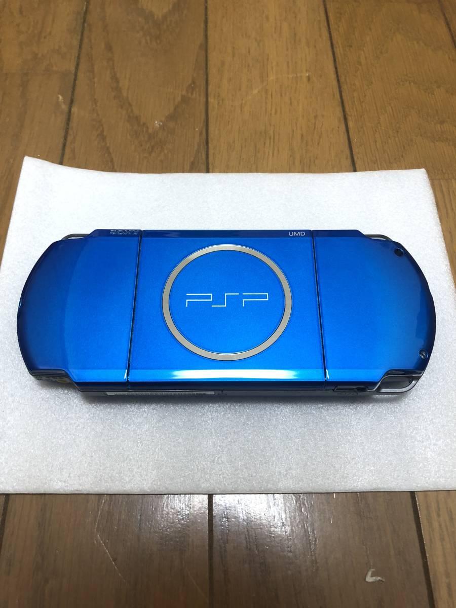 ★新品同様 完品★ PSP-3000 バイブラント・ブルー (PSP-3000VB) 動作確認済み _画像4