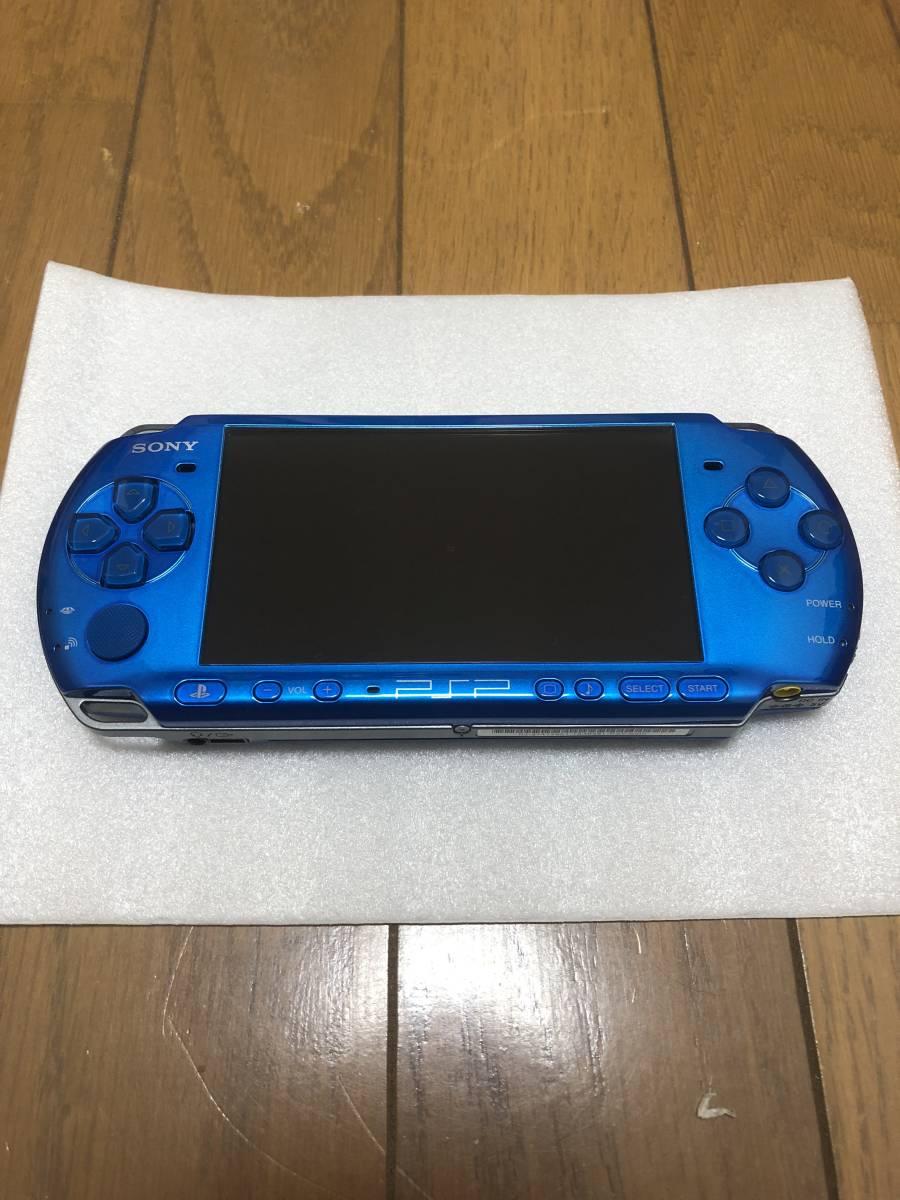 ★新品同様 完品★ PSP-3000 バイブラント・ブルー (PSP-3000VB) 動作確認済み _画像3