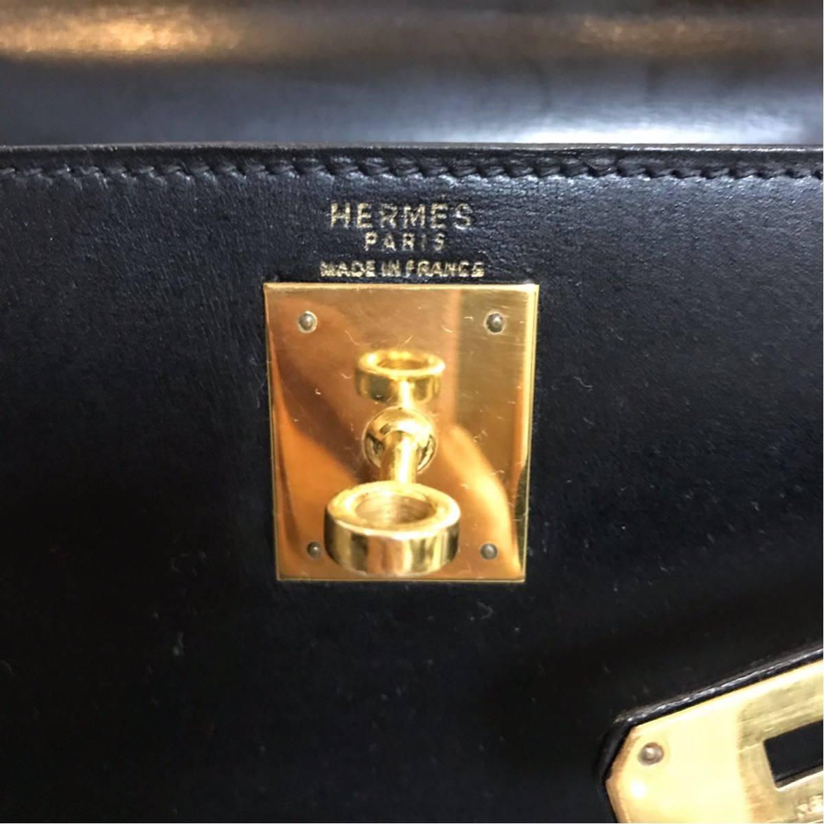 Hermes エルメス ケリー 28 ボックス 黒 ブラック_画像9