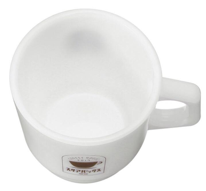 即決送料込 スターバックス オンライン限定 グラスマグスタアバックス珈琲207ml ファイヤーキングマグカップ スタバ スタッキングマグ_画像3