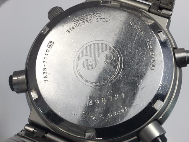セイコー SEIKO CHRONOGRAPH クロノグラフ クオーツ 7A38-7110 スピードマスター 電池交換済み USED品_画像4
