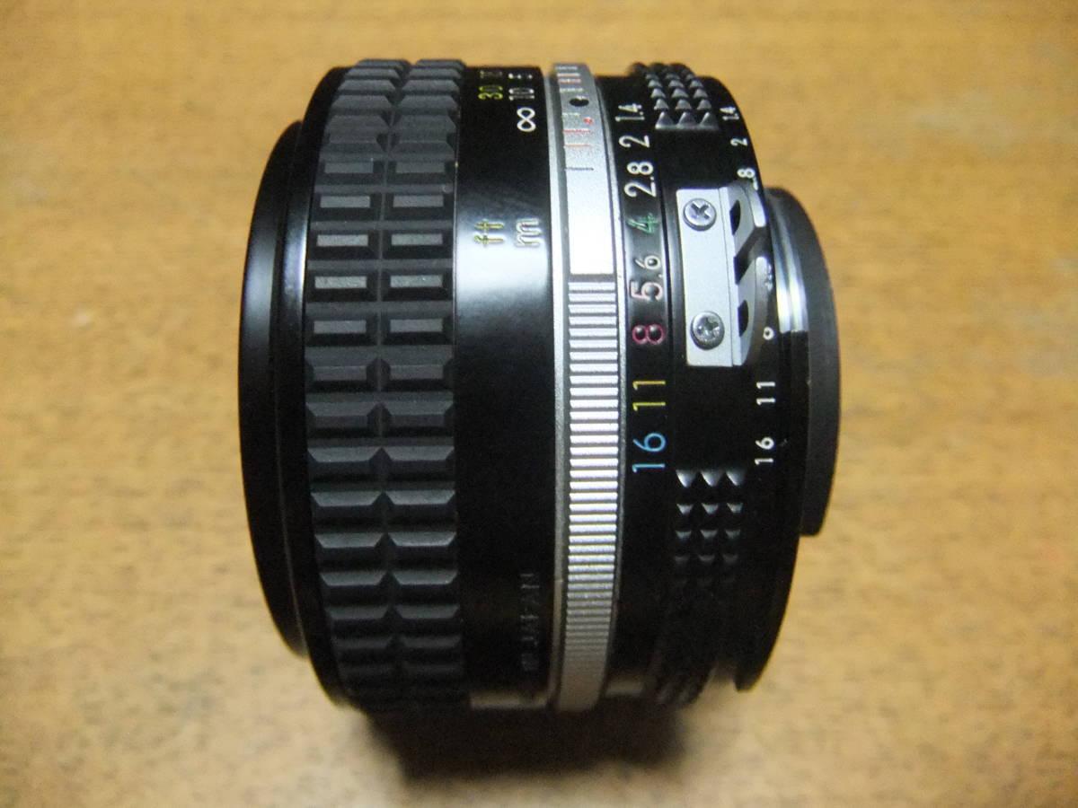 【良品中古】★Nikon Ai NIKKOR 50mm F1.4 単焦点レンズ★動作品★_画像3