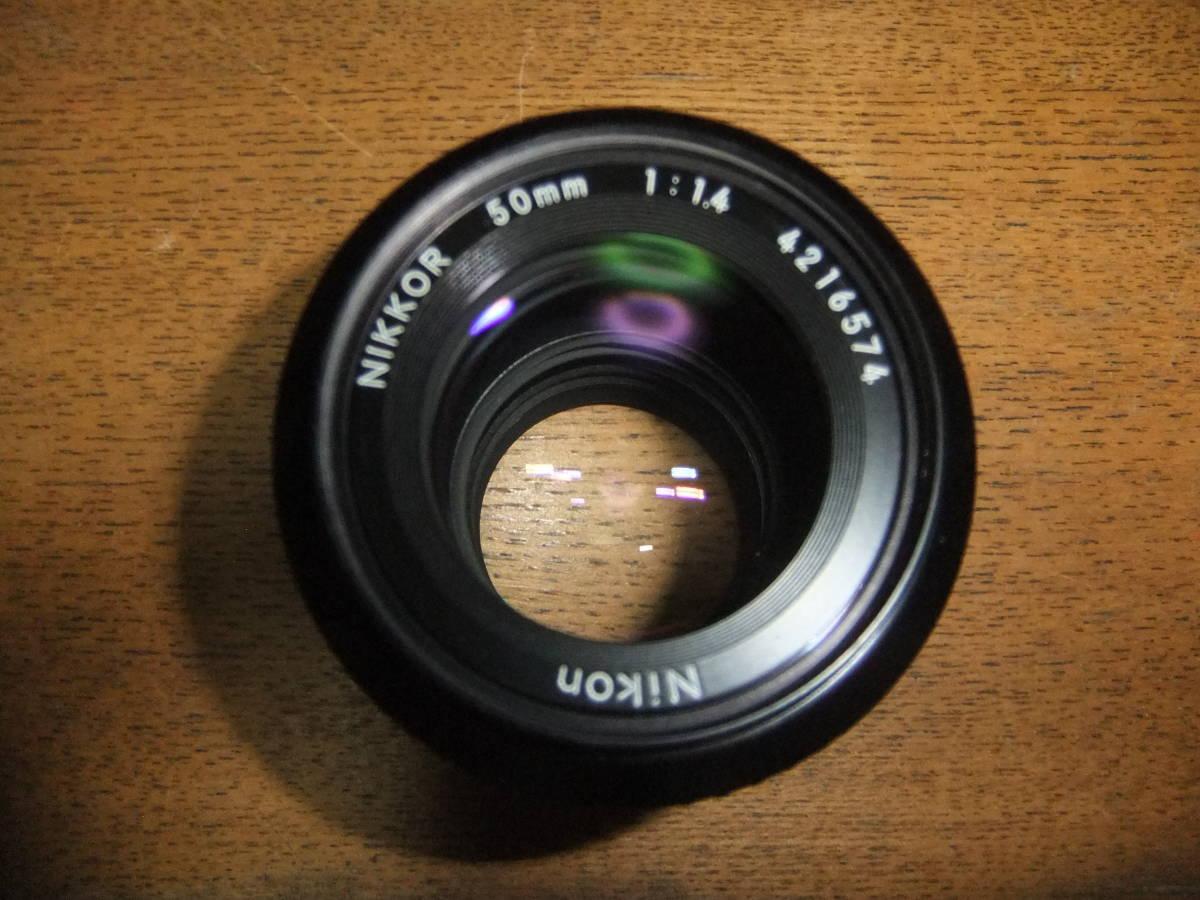 【良品中古】★Nikon Ai NIKKOR 50mm F1.4 単焦点レンズ★動作品★_画像2