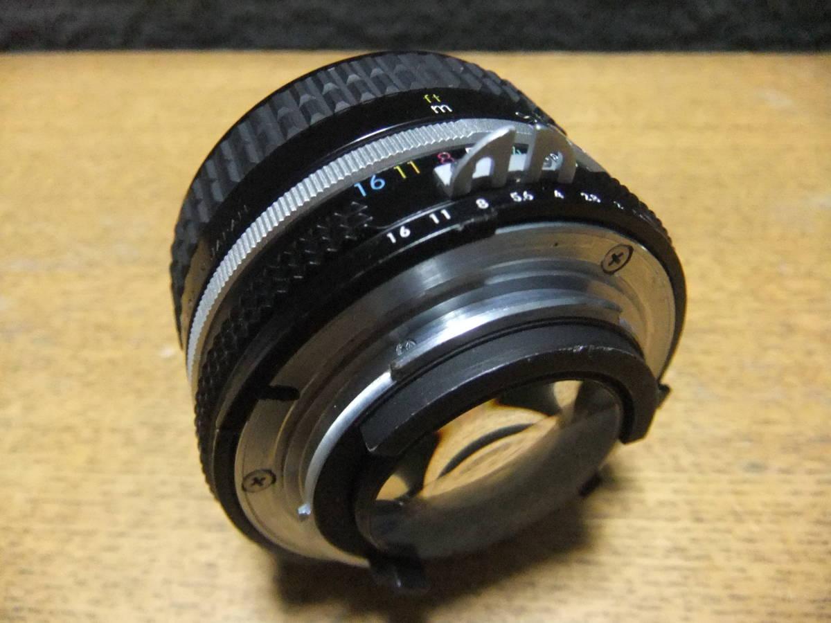 【良品中古】★Nikon Ai NIKKOR 50mm F1.4 単焦点レンズ★動作品★_画像5